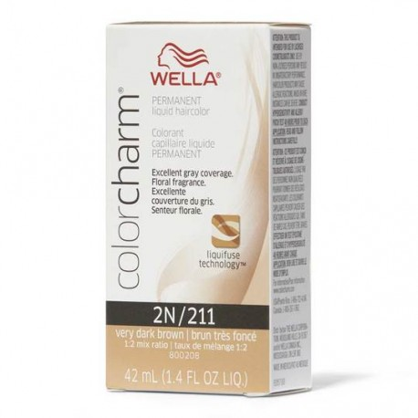 WELLA COLOR CHARM PERMANENT LIQUID - 2N/211 VERY DARK BROWN